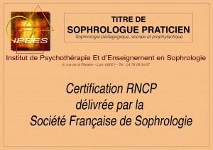 Titre de sophrologue praticien RNCP